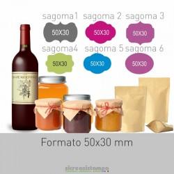 5030 Etichetta Sagomata...