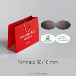 5818 Etichetta chiudipacco...