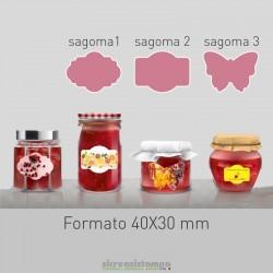 4030 Etichetta Sagomata...