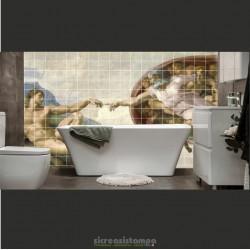 Mosaico Creazione di Adamo...