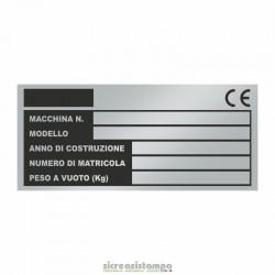 Targhetta Alluminio 9,5x4,2...